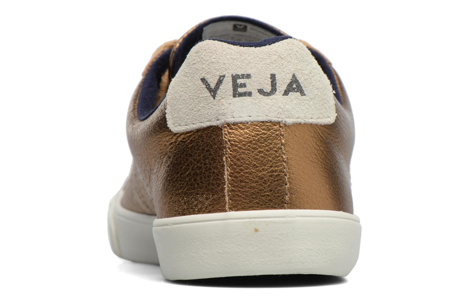Baskets Veja ESPLAR LT LEATHER Or et bronze vue droite