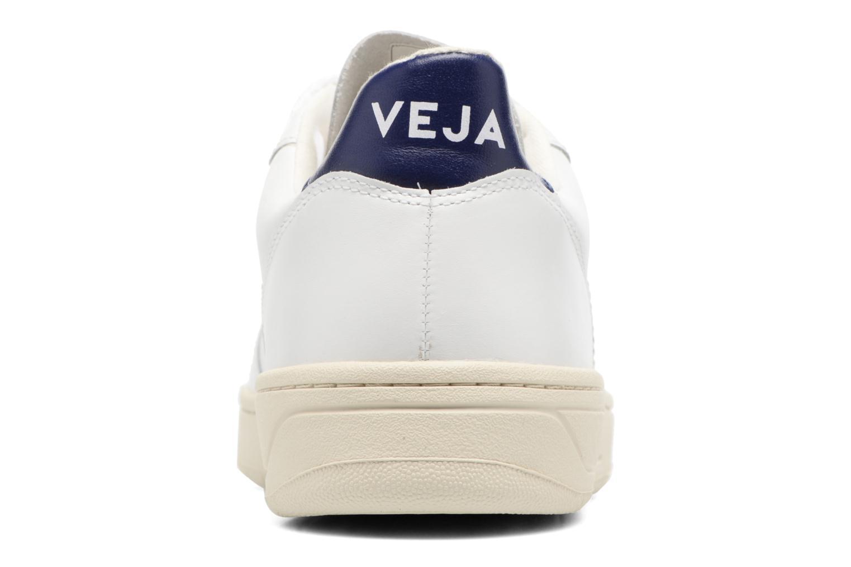 Baskets Veja V-10 LEATHER Blanc vue droite