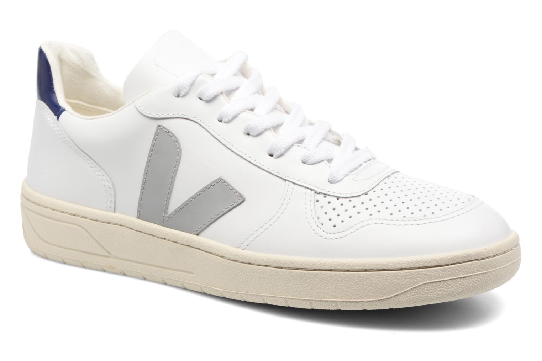 Baskets Veja V-10 LEATHER Blanc vue détail/paire
