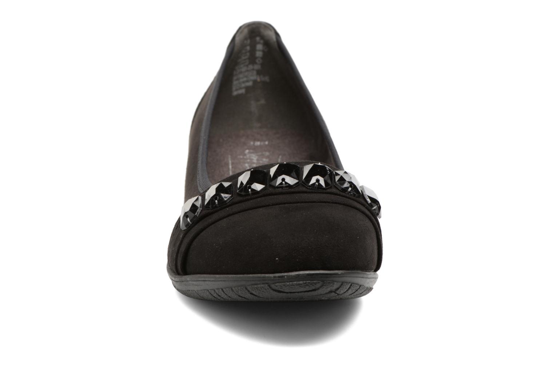 Bailarinas Jana shoes Linda Negro vista del modelo