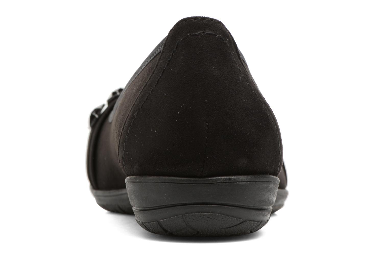 Bailarinas Jana shoes Linda Negro vista lateral derecha
