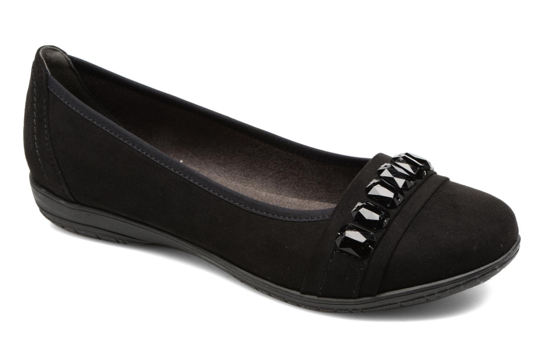 Bailarinas Jana shoes Linda Negro vista de detalle / par
