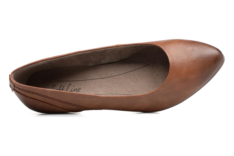 Ballerines Jana shoes Filora Marron vue gauche