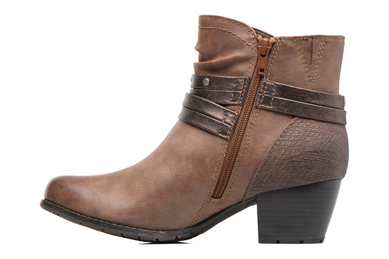 Bottines et boots Jana shoes Palino Marron vue face