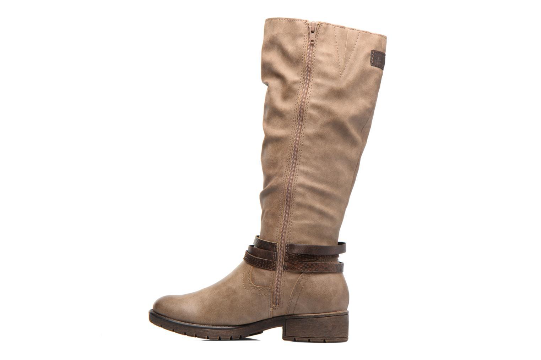 Botas Jana shoes Yelena Beige vista de frente