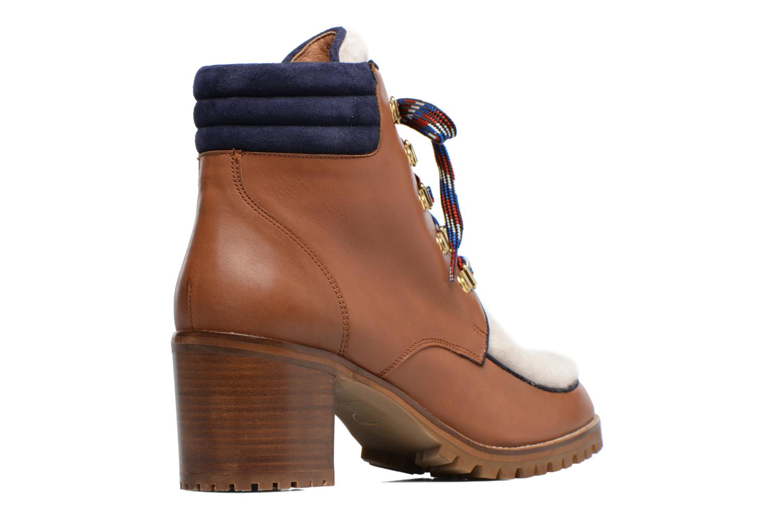 Ankle boots Made by SARENZA Winter Ski #6 Brown front view