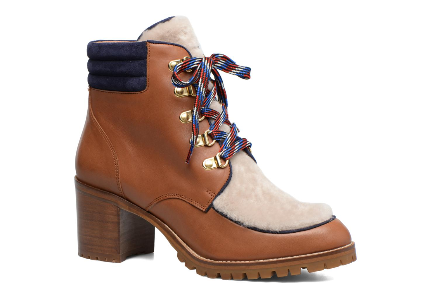 Ankle boots Made by SARENZA Winter Ski #6 Brown view from the right
