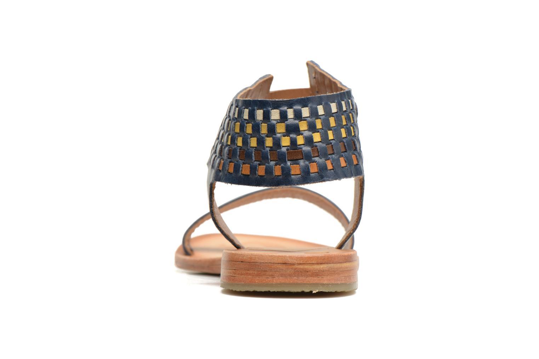 Sandales et nu-pieds Kickers Newstyle Bleu vue droite