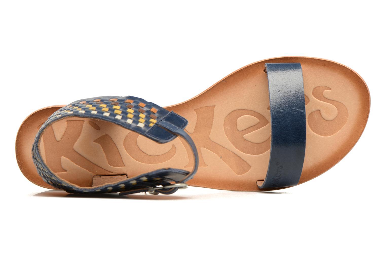 Sandales et nu-pieds Kickers Newstyle Bleu vue gauche