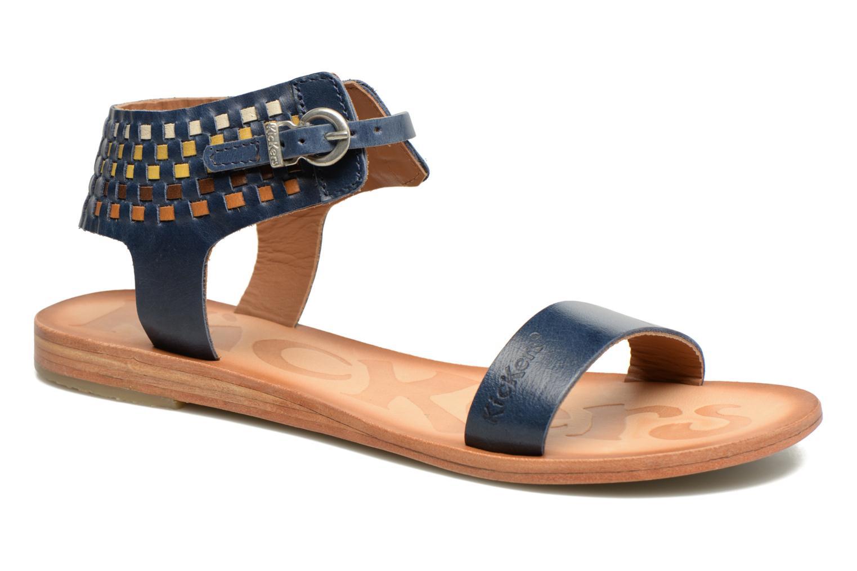 Sandales et nu-pieds Kickers Newstyle Bleu vue détail/paire