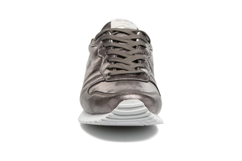 Baskets Pepe jeans Gable Plain Argent vue portées chaussures
