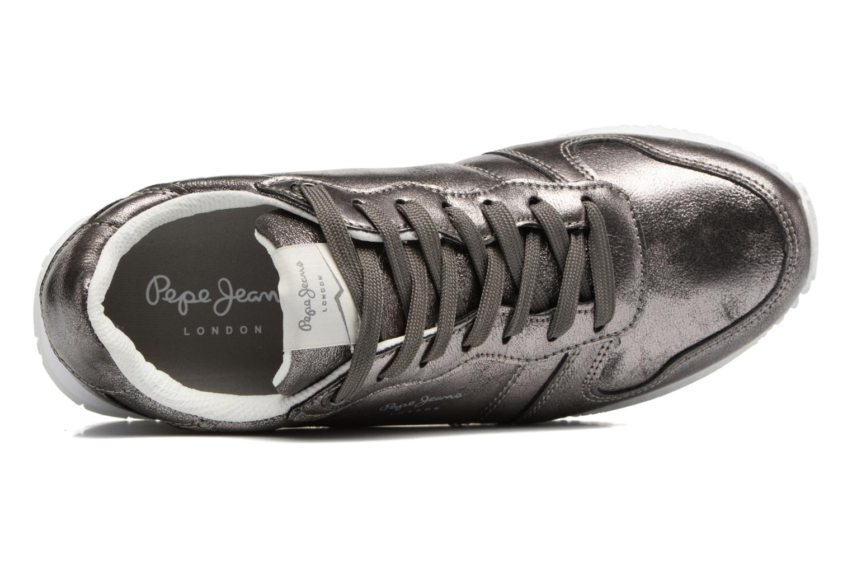 Baskets Pepe jeans Gable Plain Argent vue gauche