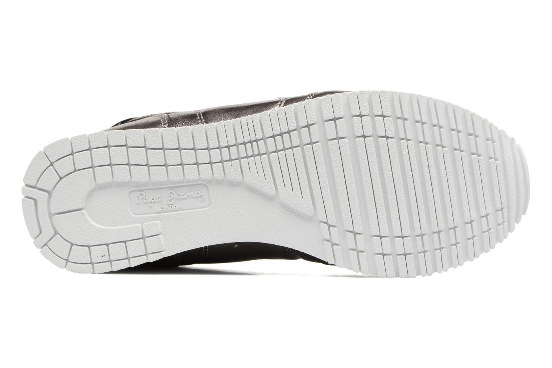Baskets Pepe jeans Gable Plain Argent vue haut