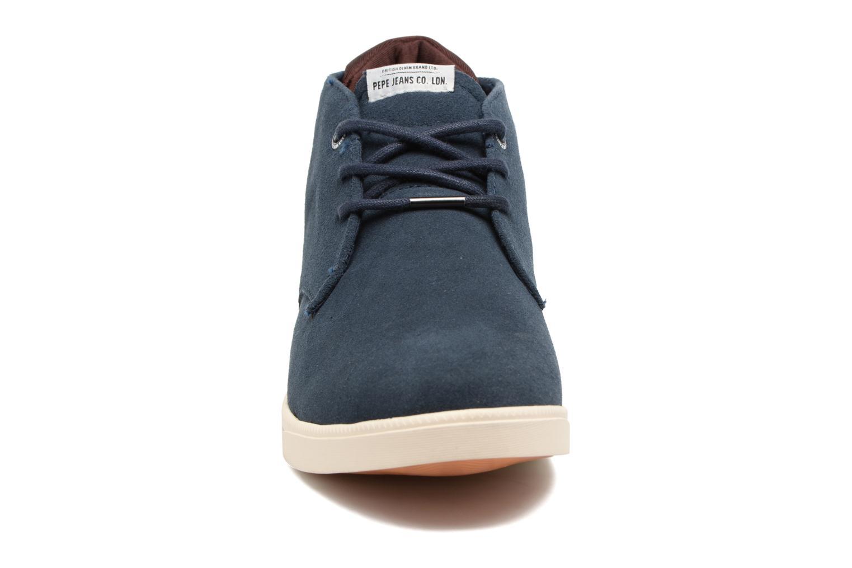Baskets Pepe jeans Bolton Sand Bleu vue portées chaussures