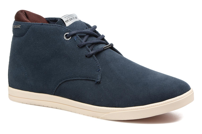 Baskets Pepe jeans Bolton Sand Bleu vue détail/paire