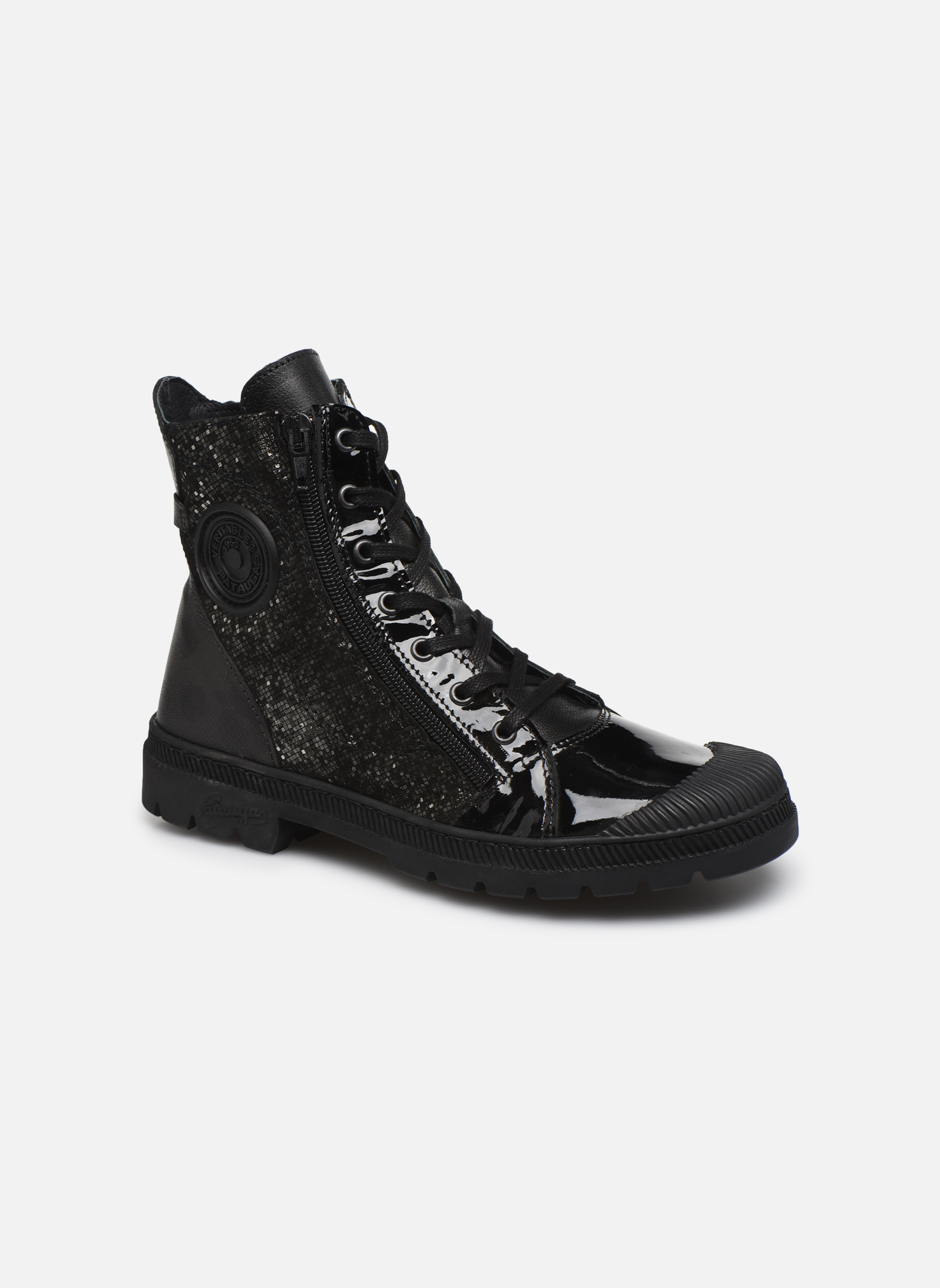 Ankle boots Pataugas Albin Black detailed view/ Pair view