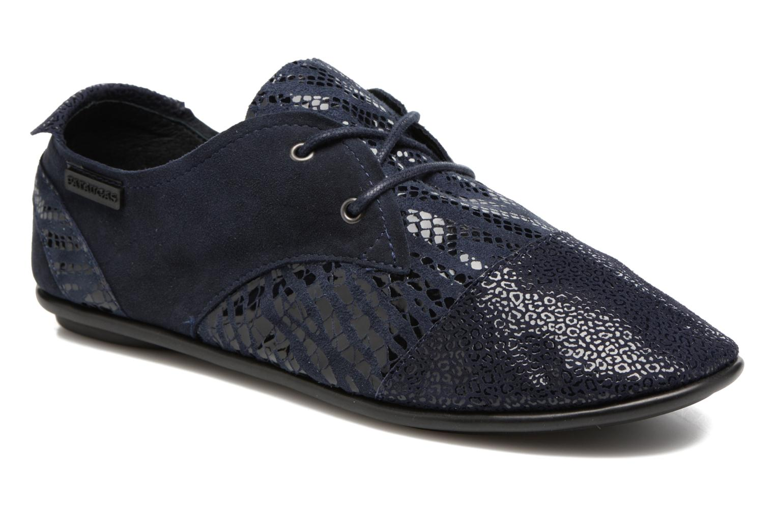 Lace-up shoes Pataugas Swing/Z Blue detailed view/ Pair view