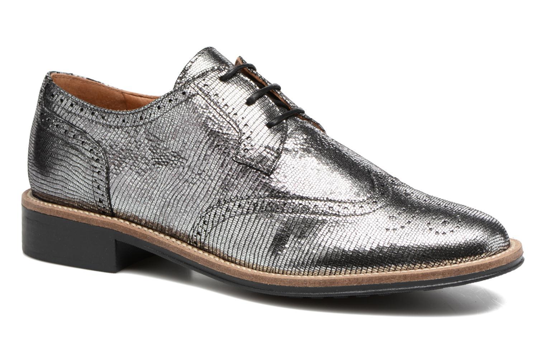Chaussures à lacets Schmoove Woman Newton perfo Diamond Argent vue détail/paire