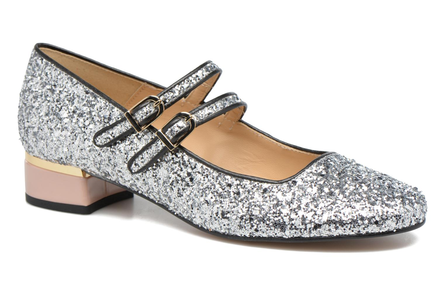 Ballet pumps Made by SARENZA Funtastic Chick #2 Silver view from the right