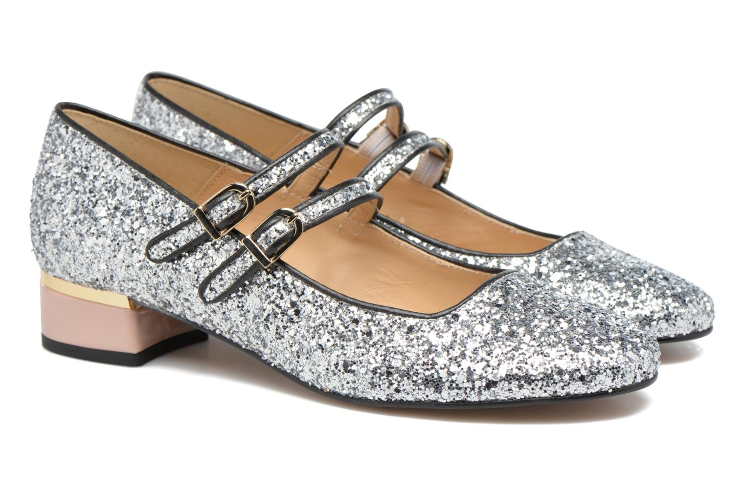 Ballet pumps Made by SARENZA Funtastic Chick #2 Silver back view