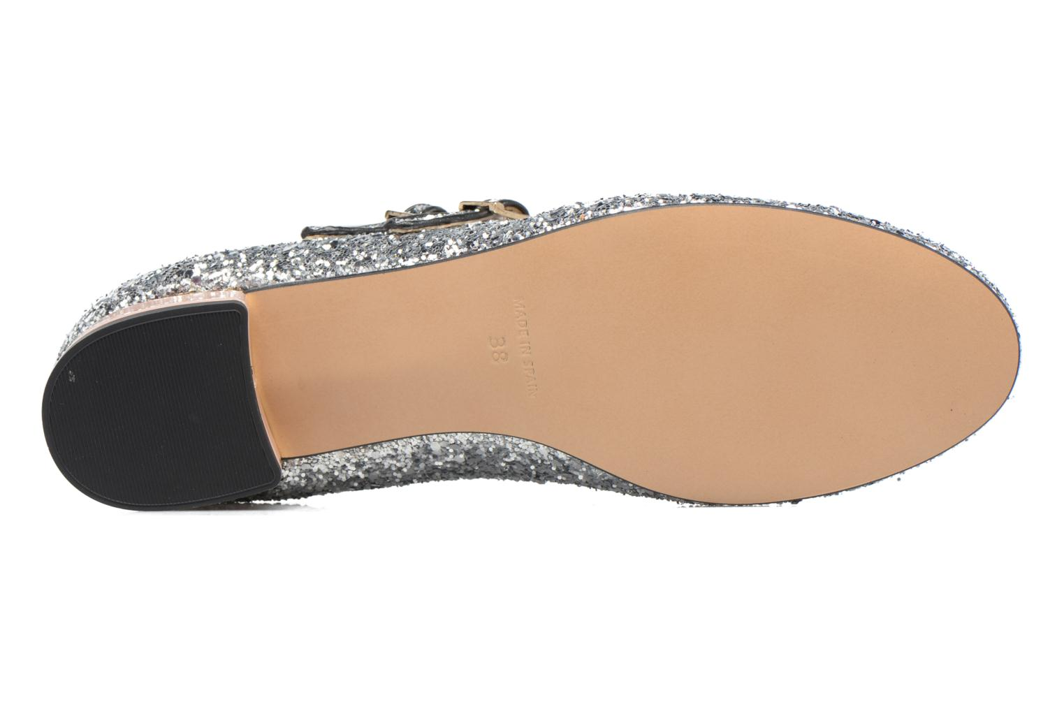 Ballet pumps Made by SARENZA Funtastic Chick #2 Silver view from above