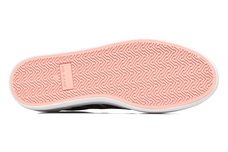 Baskets No Name Plato sneaker pink twill print tiger Bleu vue haut
