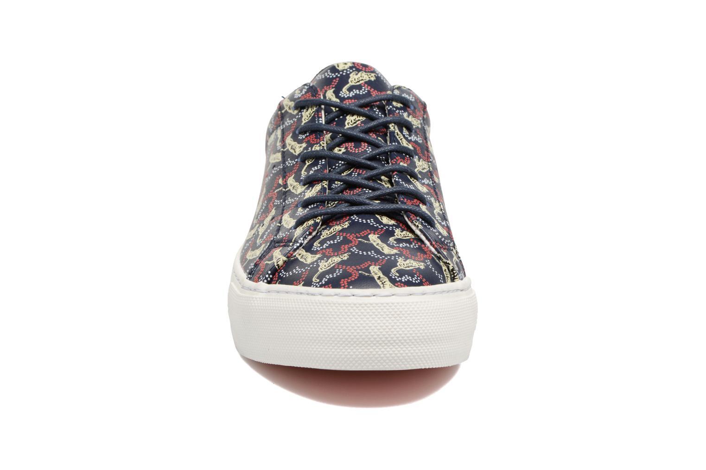 Baskets No Name Arcade sneaker pink nappa print tiger Bleu vue portées chaussures
