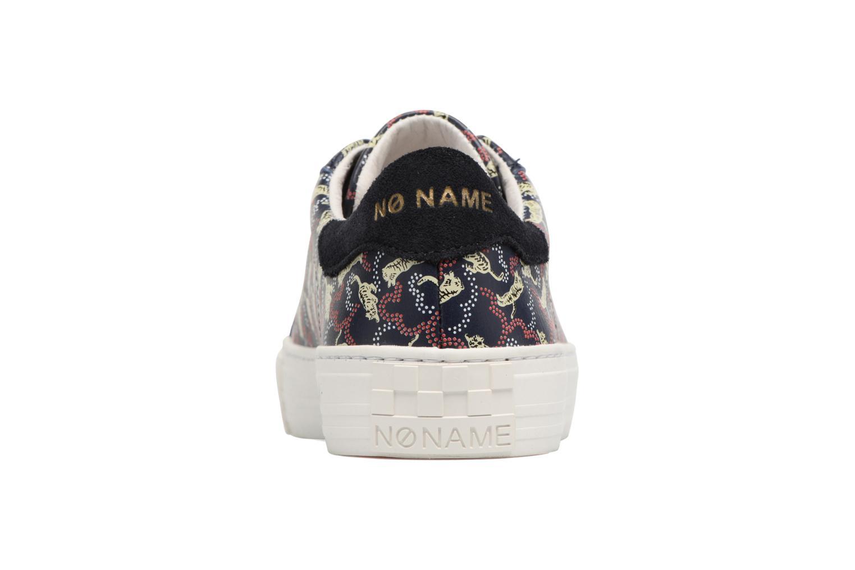 Baskets No Name Arcade sneaker pink nappa print tiger Bleu vue droite