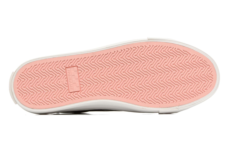 Baskets No Name Arcade sneaker pink nappa print tiger Bleu vue haut