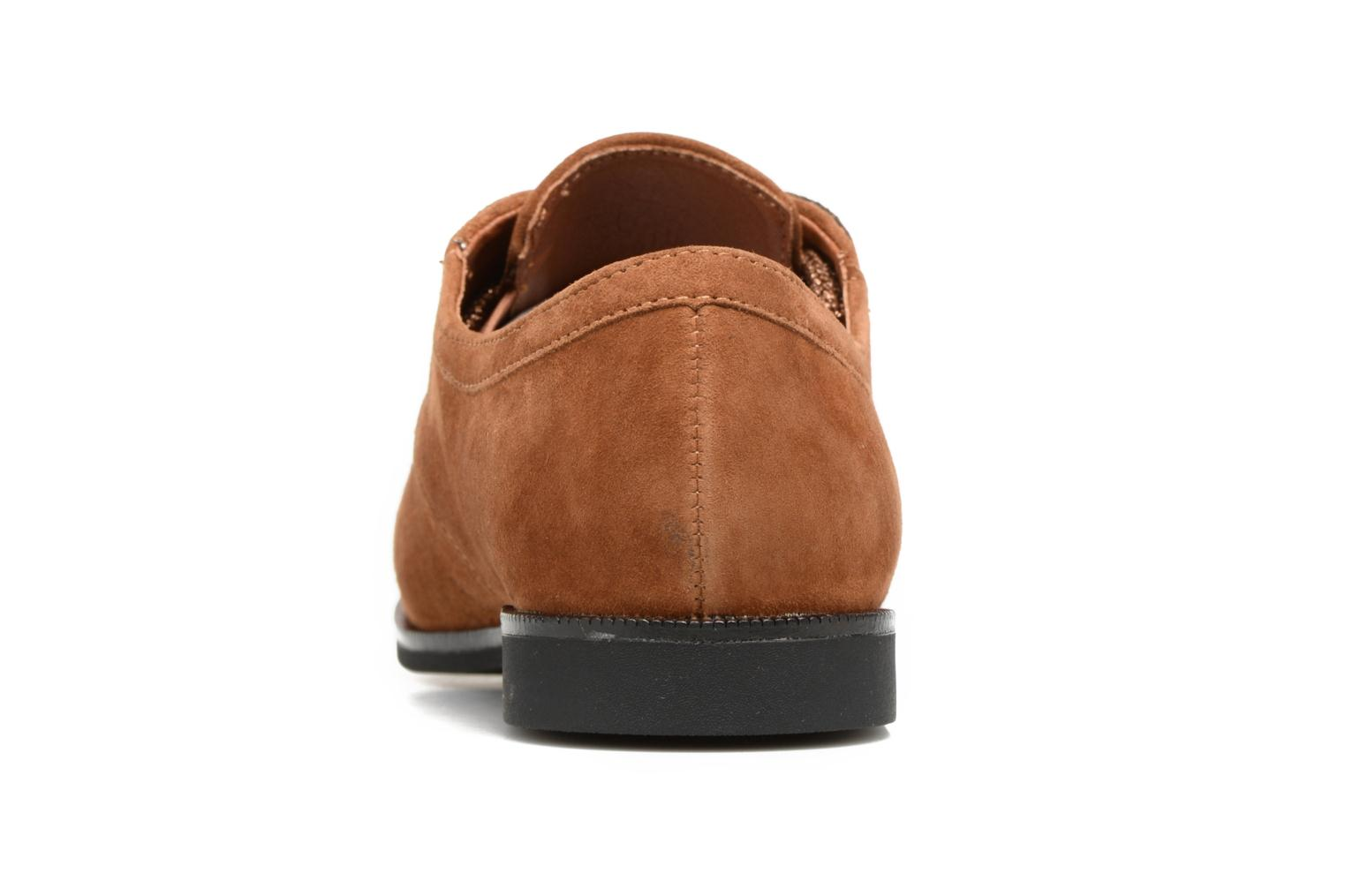 Lace-up shoes Armistice Hero one Brown view from the right