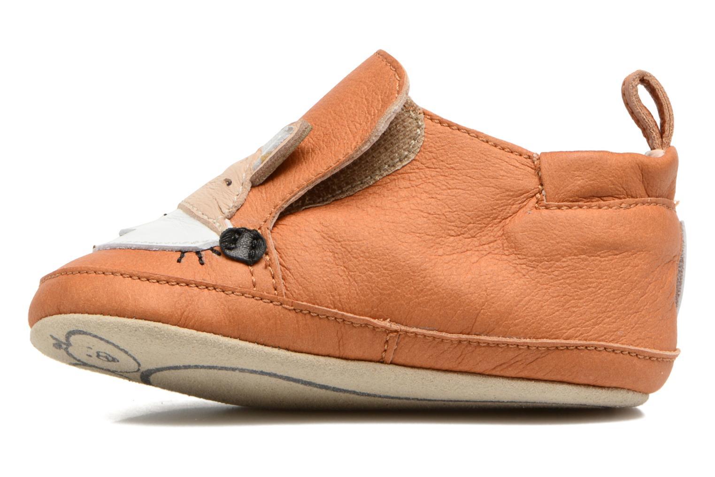 Pantofole Shoo Pom Chou Fox Marrone immagine frontale
