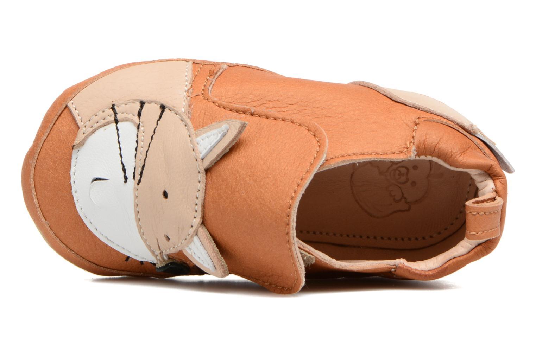 Pantofole Shoo Pom Chou Fox Marrone immagine sinistra