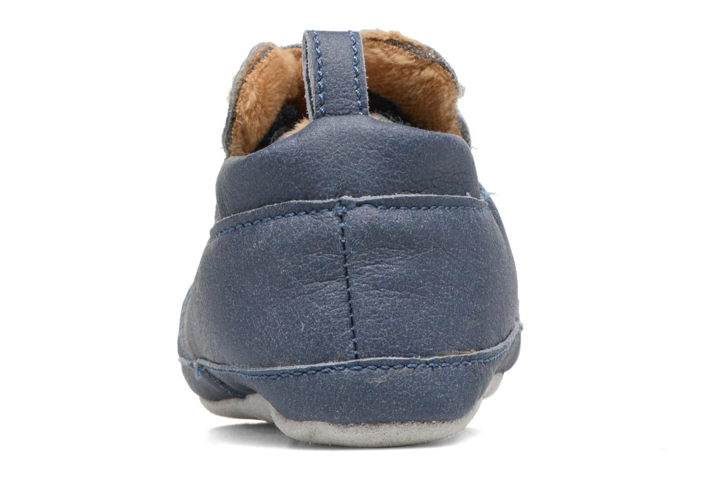 Pantoffels Shoo Pom Chou Teddy Boy Blauw rechts
