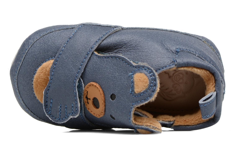 Pantoffels Shoo Pom Chou Teddy Boy Blauw links
