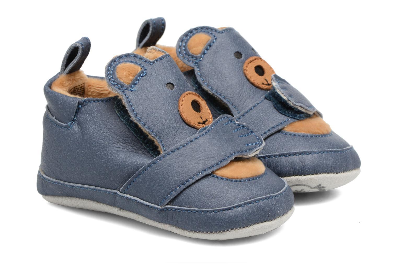 Pantoffels Shoo Pom Chou Teddy Boy Blauw detail