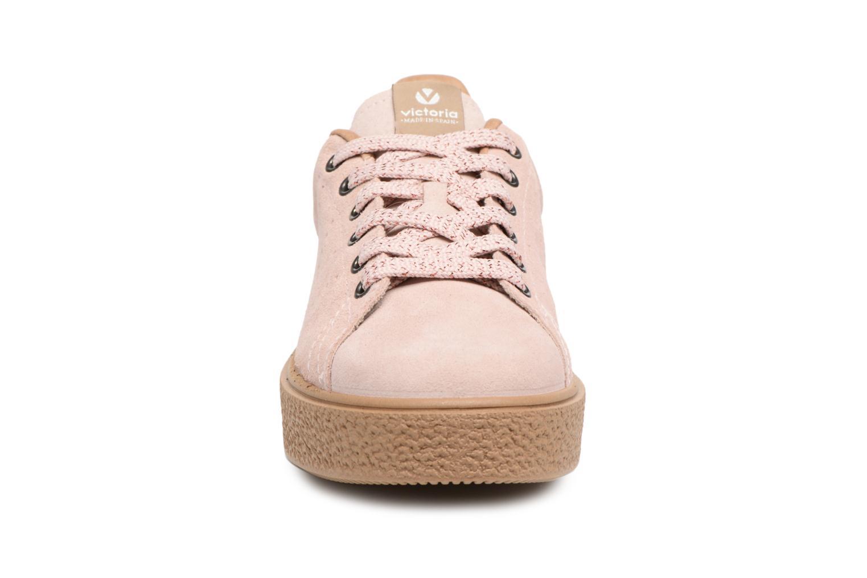 Baskets Victoria Deportivo Serraje Rose vue portées chaussures