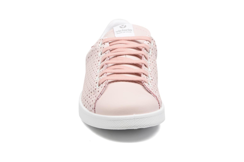 Baskets Victoria Deportivo Tenis Perforado Rose vue portées chaussures