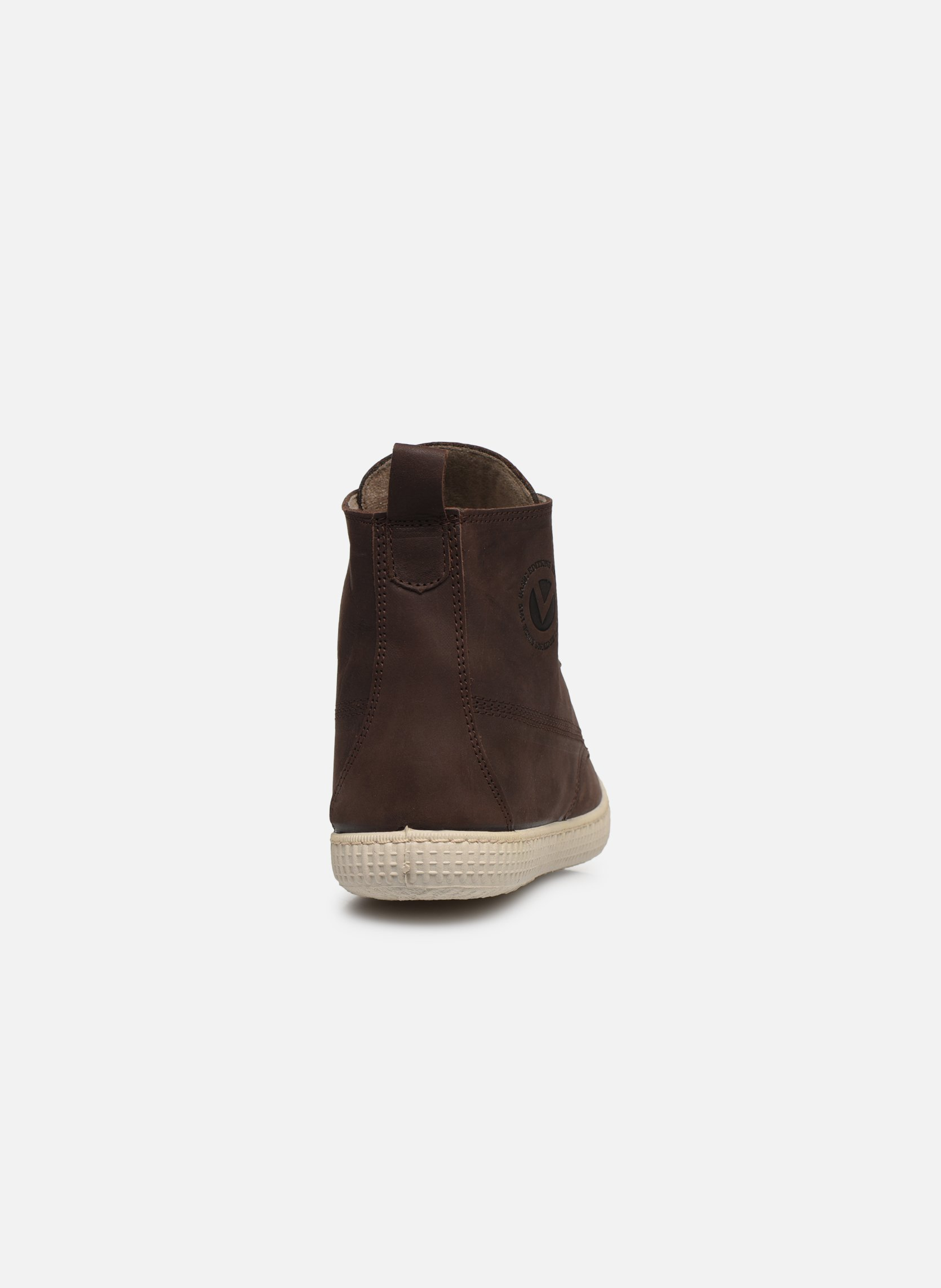 Baskets Victoria Bota Working Piel Marron vue droite