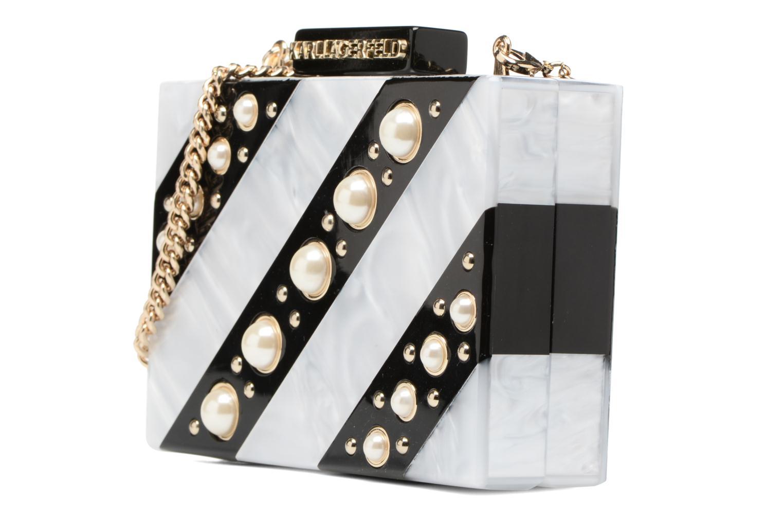 Sacs à main Karl Lagerfeld Rocky Pearls Minaudière Gris vue portées chaussures