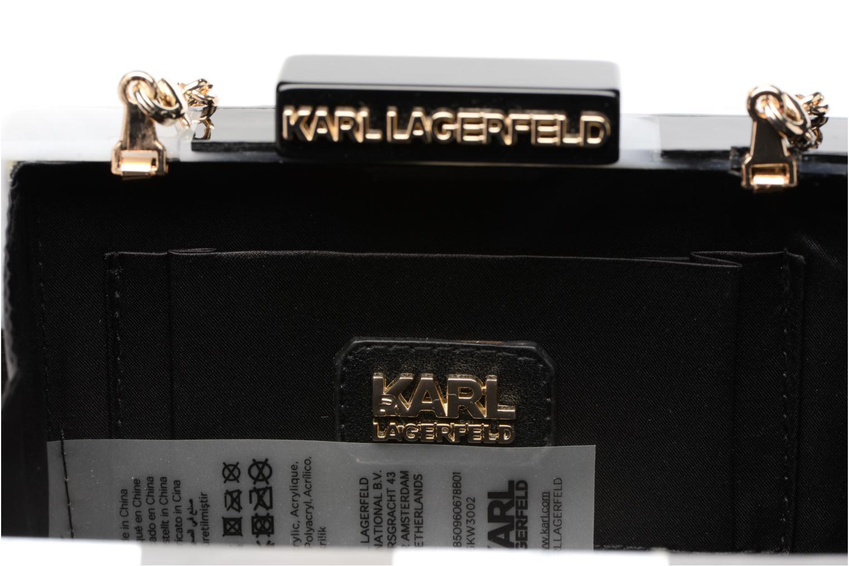 Sacs à main Karl Lagerfeld Rocky Pearls Minaudière Gris vue derrière