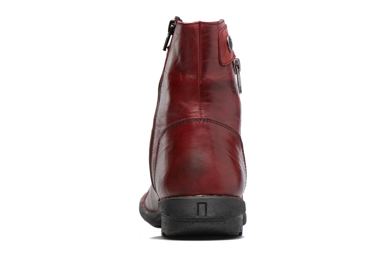 Bottines et boots Dorking Medina 7268 Bordeaux vue droite