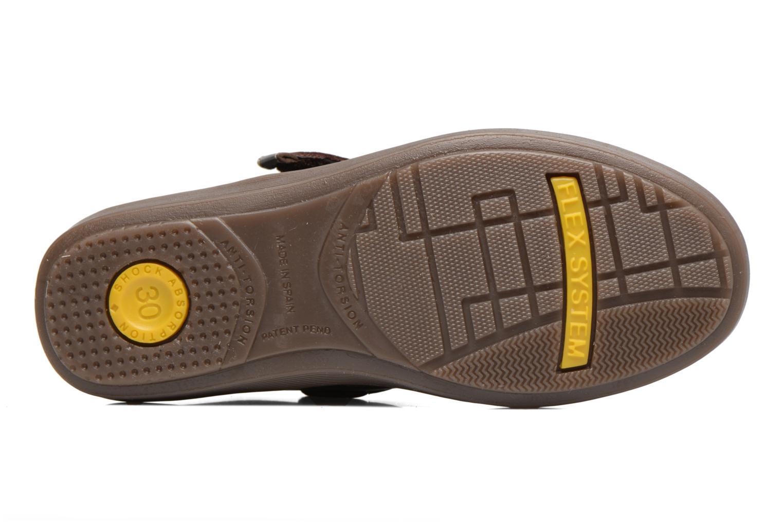 Chaussures à scratch Conguitos Juan Marron vue haut