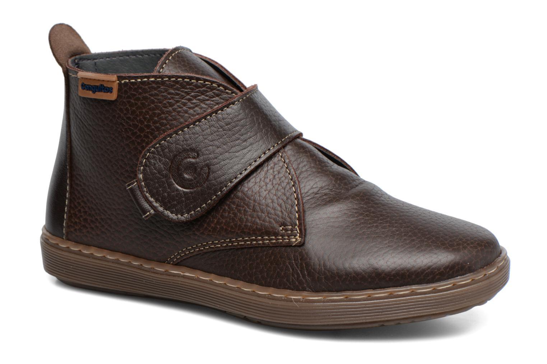 Chaussures à scratch Conguitos Juan Marron vue détail/paire