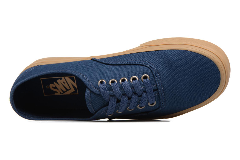 Baskets Vans Authentic Gum Bleu vue gauche