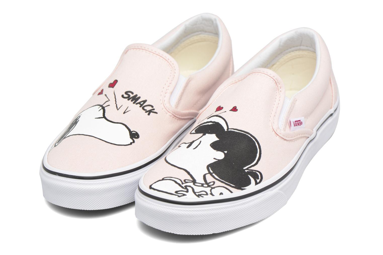 Sneakers Vans Classic Slip On W x Peanuts Rosa immagine 3/4