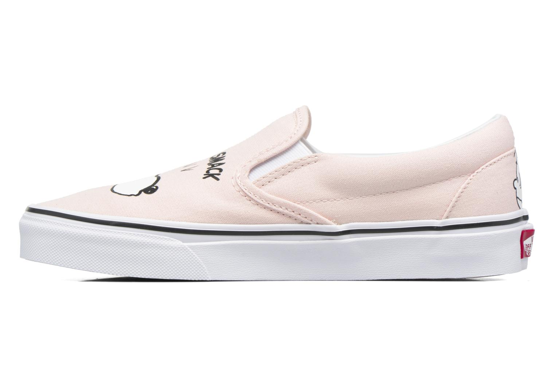 Sneakers Vans Classic Slip On W x Peanuts Rosa immagine frontale