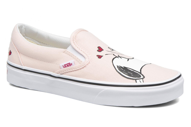 Baskets Vans Classic Slip On W x Peanuts Rose vue détail/paire