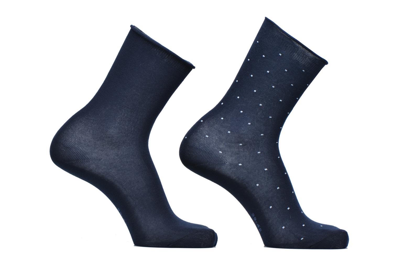 Chaussettes et collants Esprit Chaussettes Little Dots Lot de 2 Bleu vue détail/paire