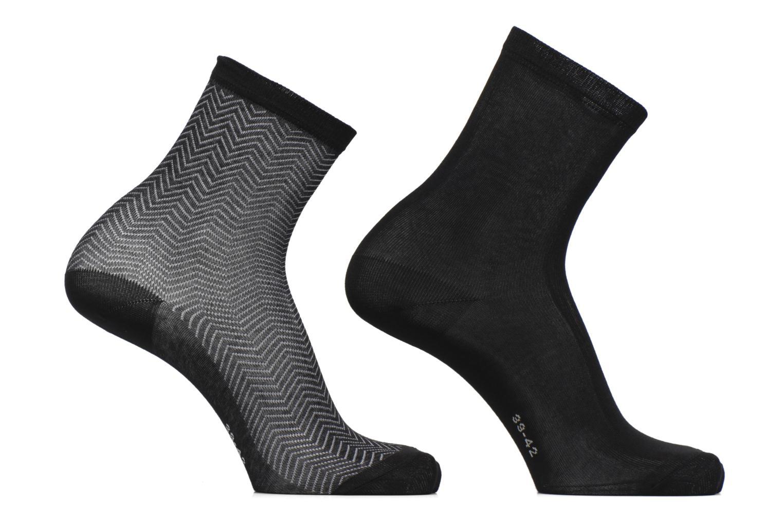 Chaussettes et collants Esprit Chaussettes ZigZag Lot de 2 Noir vue détail/paire