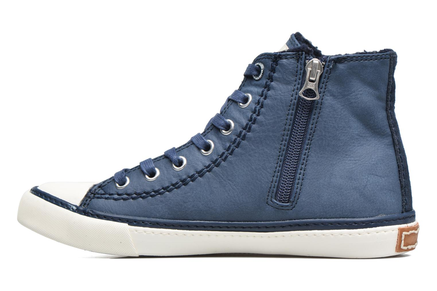 Baskets Pepe jeans Raider Bleu vue face